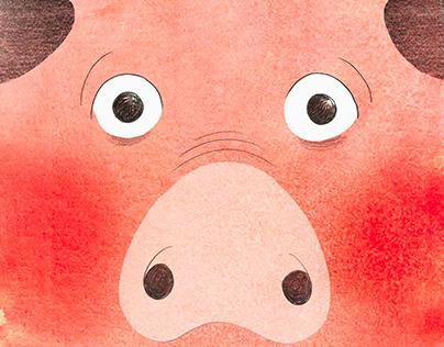 Un secret de petit cochon (éditions du Seuil jeunesse)