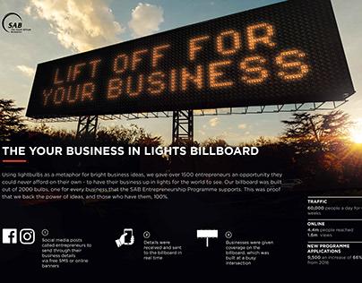 SAB | Business in Lights Billboard