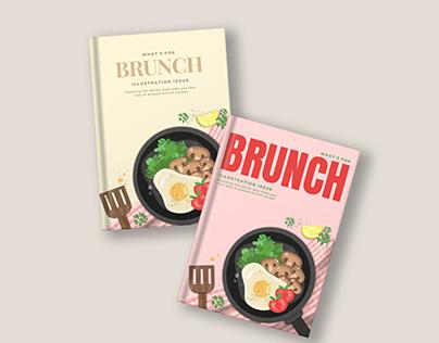 Cookbook cover design / illustration - BRUNCH