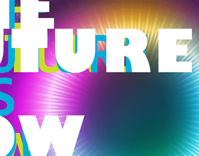 The Future is Now Art Exhibition Poster Design