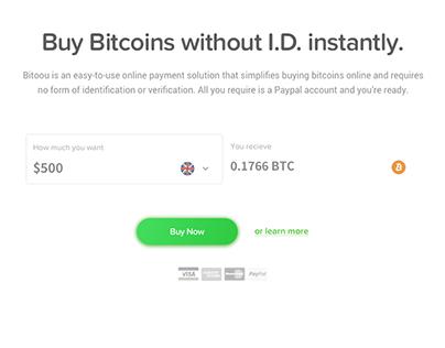 Bitoou - Bitcoin Exchange Merchant (Web Design)