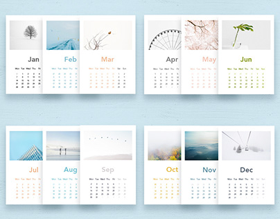 Calendar of Seasonal Minimalism
