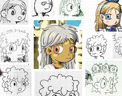 Characters drawing