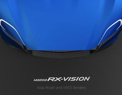 Mazda RX Vision Alias Model And VRED Renders