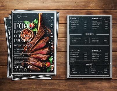 Restaurants menu Flyer