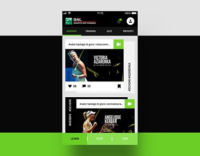BNL Tennis Academy - App Design