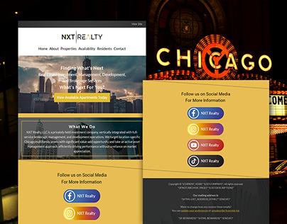 Social Media Email Template Design