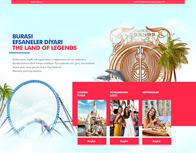 The Land Of Legends / Website & Mobile App