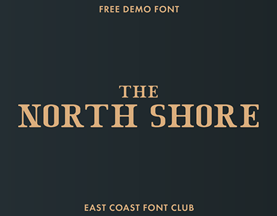 THE NORTH SHORE - FREE SERIF FONT