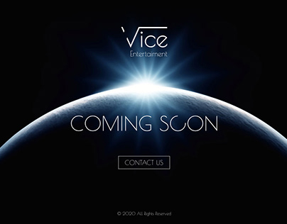 Vice Entertaiment | Coming soon page