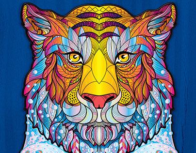 Дизайн пазла «Водяной тигр».