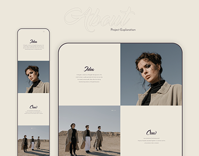 Hipster Fashion Art Agency Landing Page UI/UX Design
