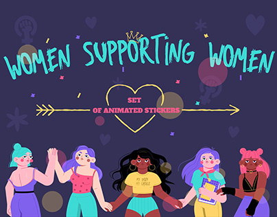 Feminism/diversity animated stickers