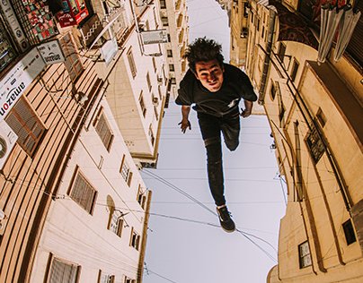 Parkour photos from creative angles