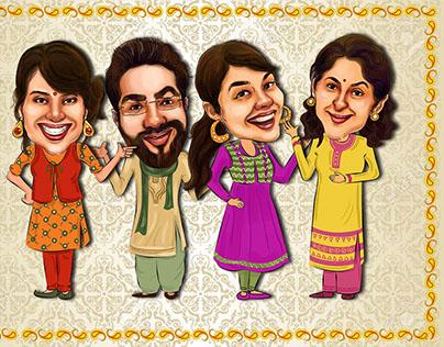 Diwali characters
