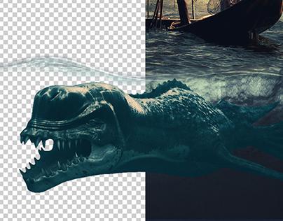 O Monstro e o Peixe - Retouch