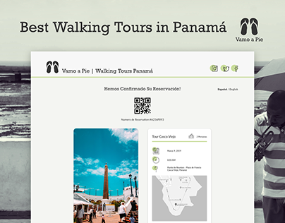 Email Receipt UI for Vamo a Pie | Walking Tours Panamá
