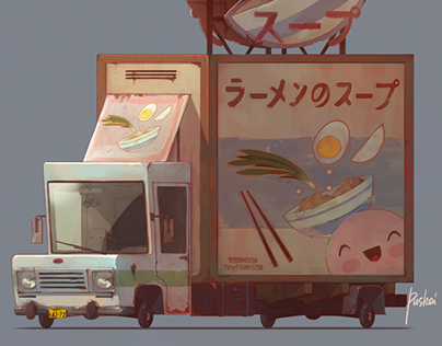 Asian Food. Game art