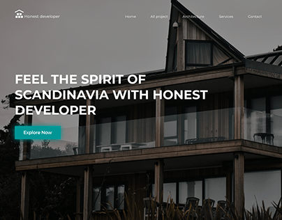 Landing page for build company
