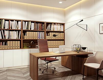 Modern classic CEO office interior