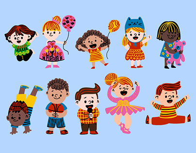Patterned Children and Animals
