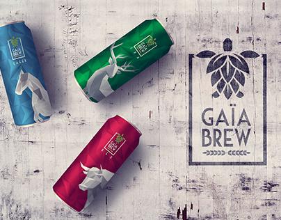 Gaïa Brew branding - packaging