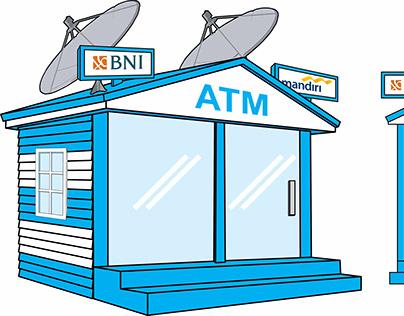 Ancol Beach ATM Booth Fasade Design