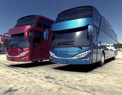 Rendering Bus (JETBUS By ADIPUTRO)
