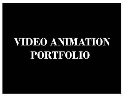 Video Animation Projects