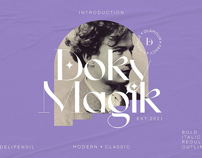 Doky Classic Modern Typeface