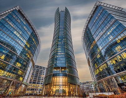 Warsaw Spire tower with its 180 meters and 49 floors