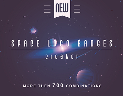 Space logo badges creator