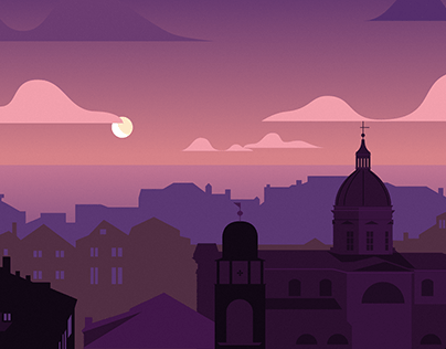 Dubrovnik - Illustration series