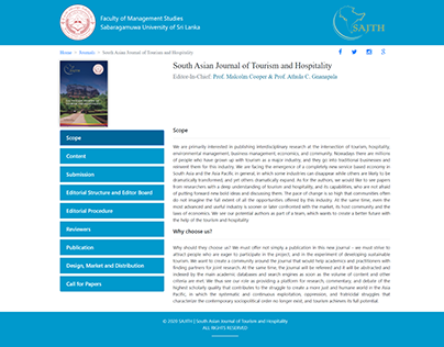 Home Page For Journal Website- SUSL