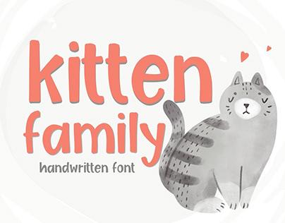 Kitten Family, Fun Handwritten Font, Serif Font