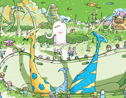 2014Maxell桌曆插畫