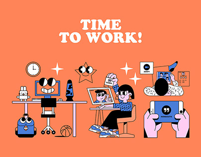 Work and Play App Illustrations