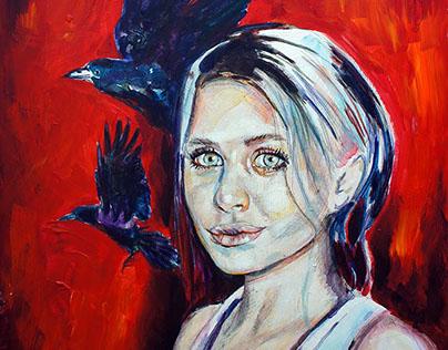 Portrait studies- Acrylic