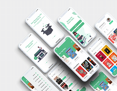 The Book Grocer App Design — Free Bookstore XD UI Kit