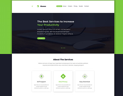 Landing page design for multiple business website