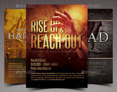 Rise Church Marketing Flyer Template Bundle