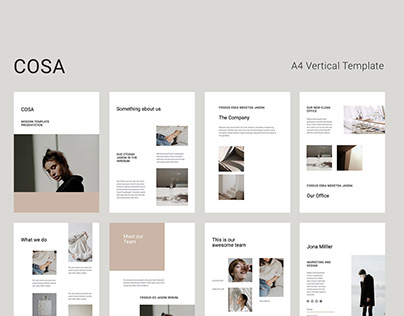 COSA Vertical A4 Template Presentation