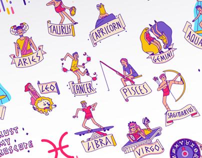 Horoscope sticker pack