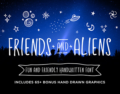 FRIENDS & ALIENS Font + EXTRAS