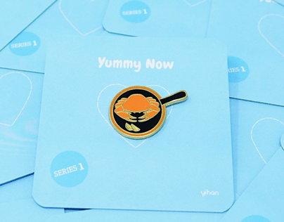 Yummy Now - Roasted Dungeness Crab, Premium Enamel Pin