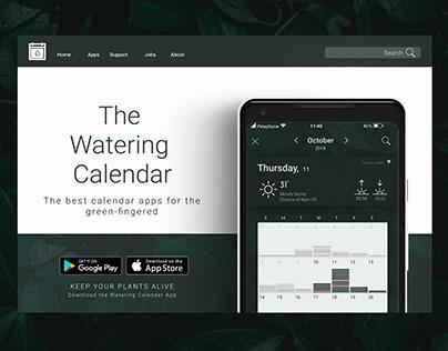 The Watering Calendar Landing Page