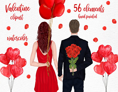 Couples Clipart Valentines Day