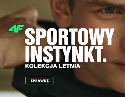 Sport clothes collection for men - landing page 4F