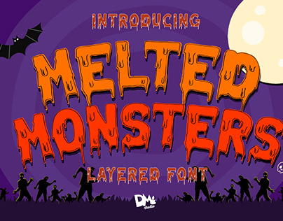 Melted Monsters - Layered Display Font