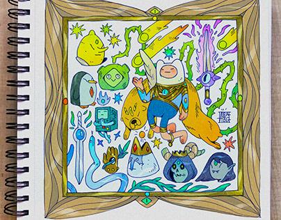 Adventure Time fanart! 🌿🌞☄️👁🖤